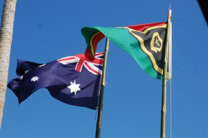 Australia and Vanuatu Flags